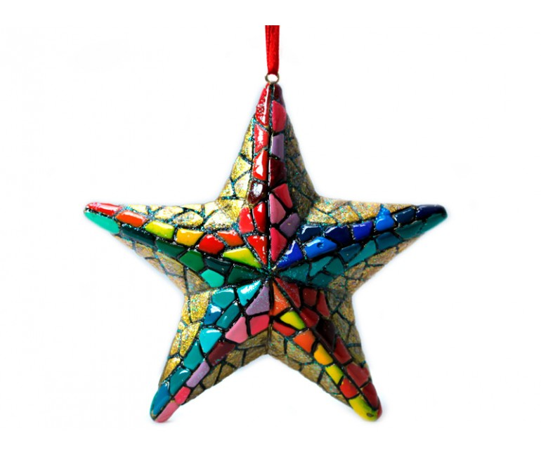 Balle de Noël Trencadís Gaudí