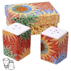 Set salero y pimentero Gaudi Multicolor