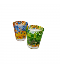 Set of 2 Glass Candleholder Aurora