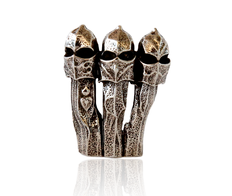 Gaudi Chimney La Pedrera Brooch