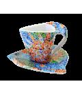 Tassa triangular de cafè amb plat - Soles