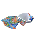 Triangular Cup with Saucer - Soles
