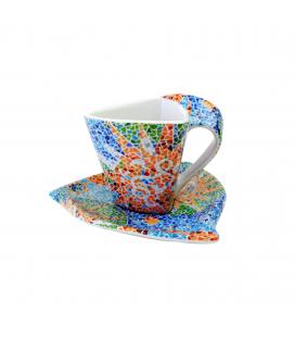 Tasse triangulaire avec sous-tasse Soles