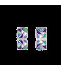 Boucles d'oreilles carrées Gaudí