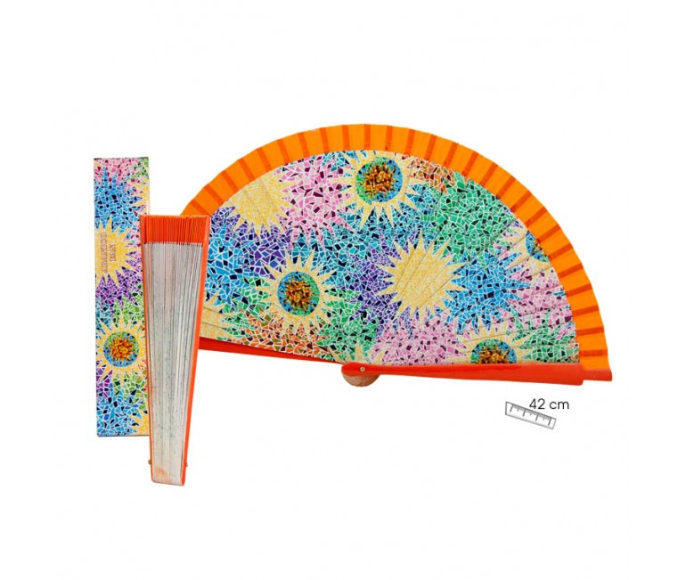 Gaudi Multicolor Fan