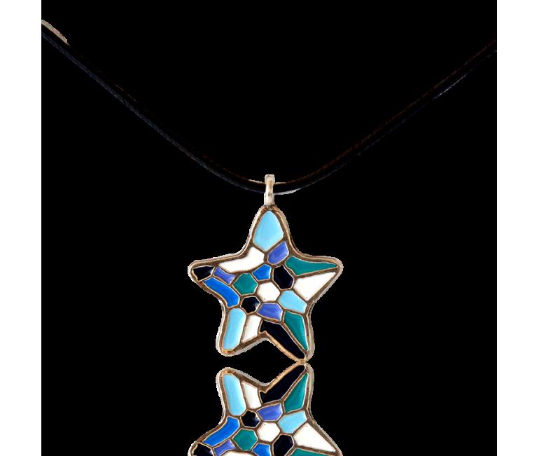 Gaudi Blue Star Pendant