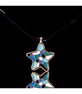 Colgante Estrella Azul Gaudí