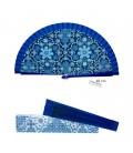 Éventail Gaudí Mosaïque bleue