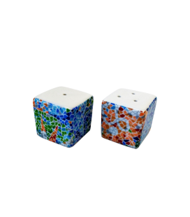 Salt and Pepper Dice Trencadis Aurora