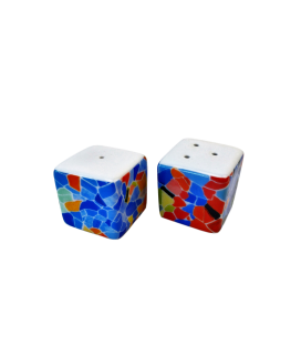 Salt and Pepper Dice Trencadis Vitral