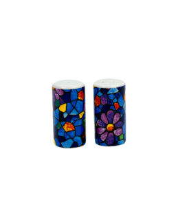 Salt and Pepper Cylinder Trencadis Vitral