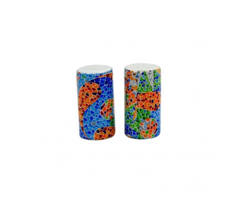 Salt and Pepper Cylinder Trencadis Vitral