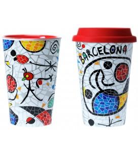 Mug tèrmic ceràmica Inspiració Miró