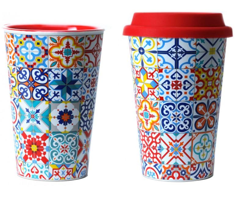 Thermal Ceramic Mug Modernist mosaics Barcelona