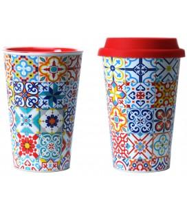 Mug térmico cerámica mosáicos modernistas Barcelona