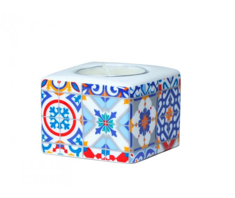 Ceramic Candleholder Barcelona Modernist Mosaics