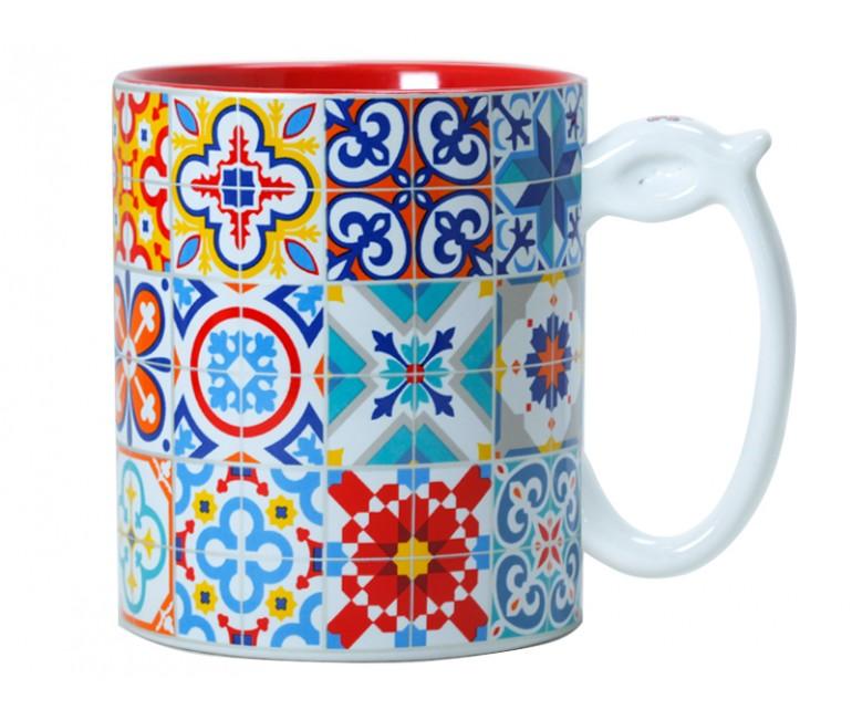 Ceramic Mug Barcelona Modernist Mosaics