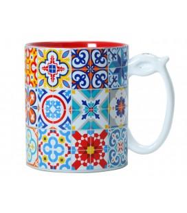 Taza cerámica mosáicos modernistas Barcelona