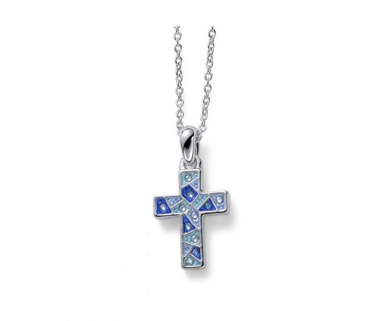 Pendant Gaudi Cross Blue
