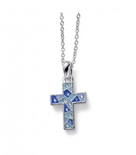 Pendant Gaudi Cross Blue