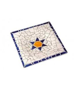 Plat quadrat de ceràmica Trencadís