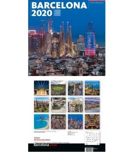 Barcelona Big Wall Calendar