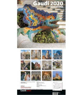 Calendrier mural de Gaudí grand