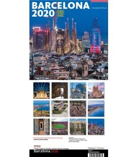Calendario de pared Barcelona grande
