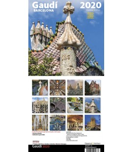 Calendrier mural de Gaudí