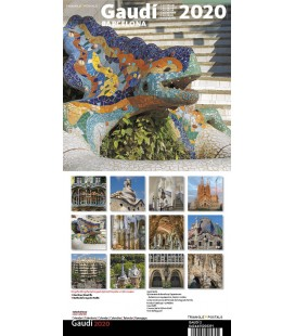 Calendario de pared Gaudí