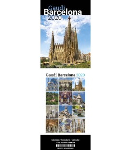 Calendrier mini de bureau Gaudí Barcelone
