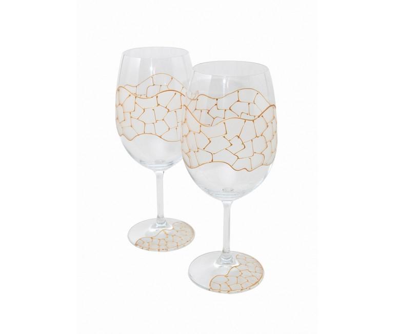 Gold Gaudi Set of Wine Cups