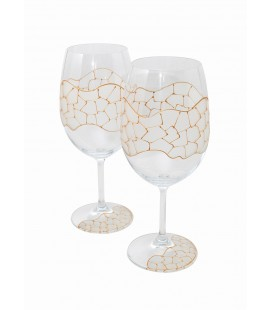 Gold Gaudi Set of Wine Cups