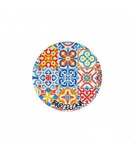 Sous-verre en céramique mosaïques modernistes Barcelone