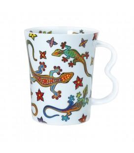 Tasse en céramique Salamandre dorée Gaudi