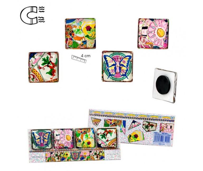 6 Gaudi Mosaic Magnets Set