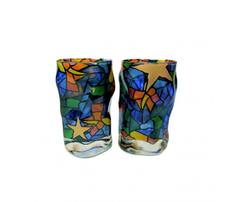 Set of 2 Drams of Glass Triana Estrellas