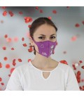 Swarovski Cotton Face Mask for Kids. Purple Color