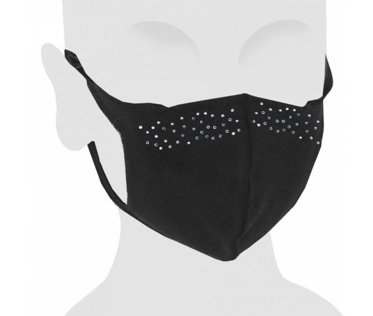 Elegance Swarovski Cotton Face Mask