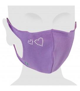 Masque en coton avec Swarovski Hearts