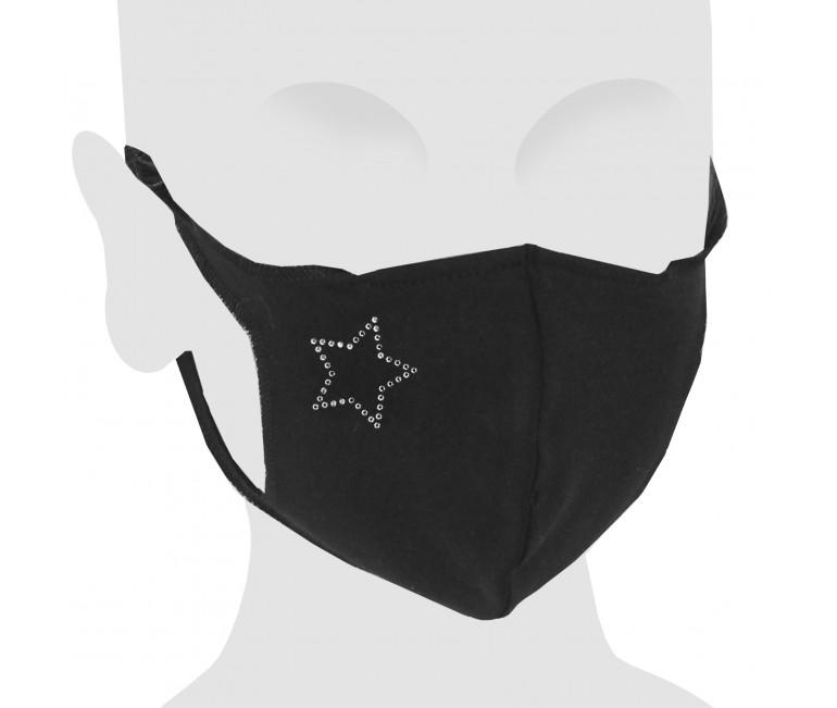 Star Swarovski Cotton Face Mask