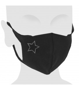 Mascarilla algodón con Swarovski Star