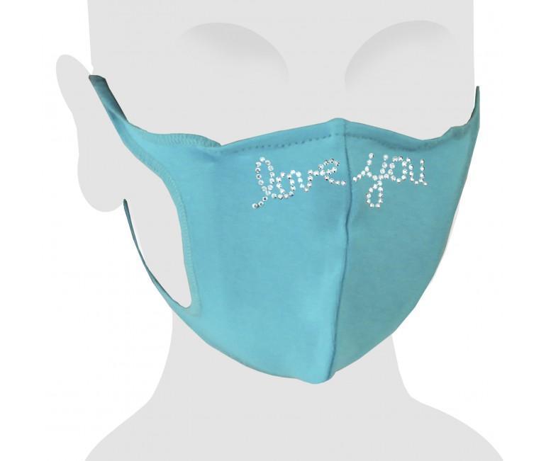 Love You Swarovski Cotton Face Mask