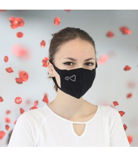 Hearts Swarovski Cotton Face Mask