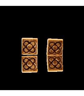 Boucles d'oreilles dorées Flor de Barcelona