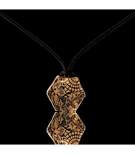 Colgante dorado Baldosa Gaudí