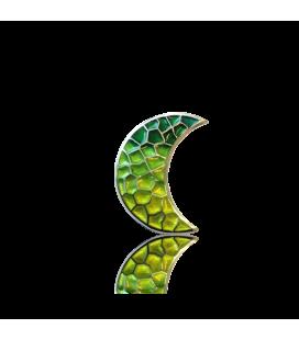 Pendentif lune verte trencadís Gaudí