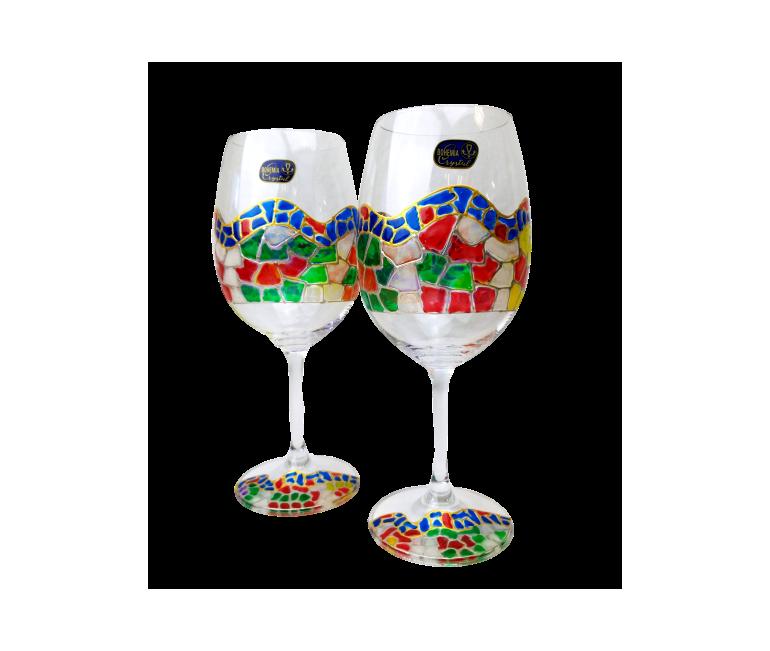 Malette avec 2 Verres de Vin Bordeaux