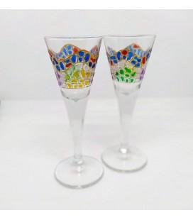 Set de 2 mini verres de vin Gaudí