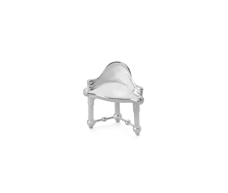 Miniatura Taburete Calvet en plata